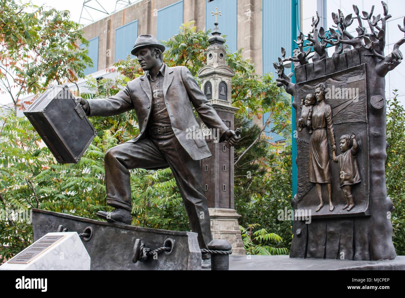 Emigrant Statue, Halifax, Canada - Stock Image