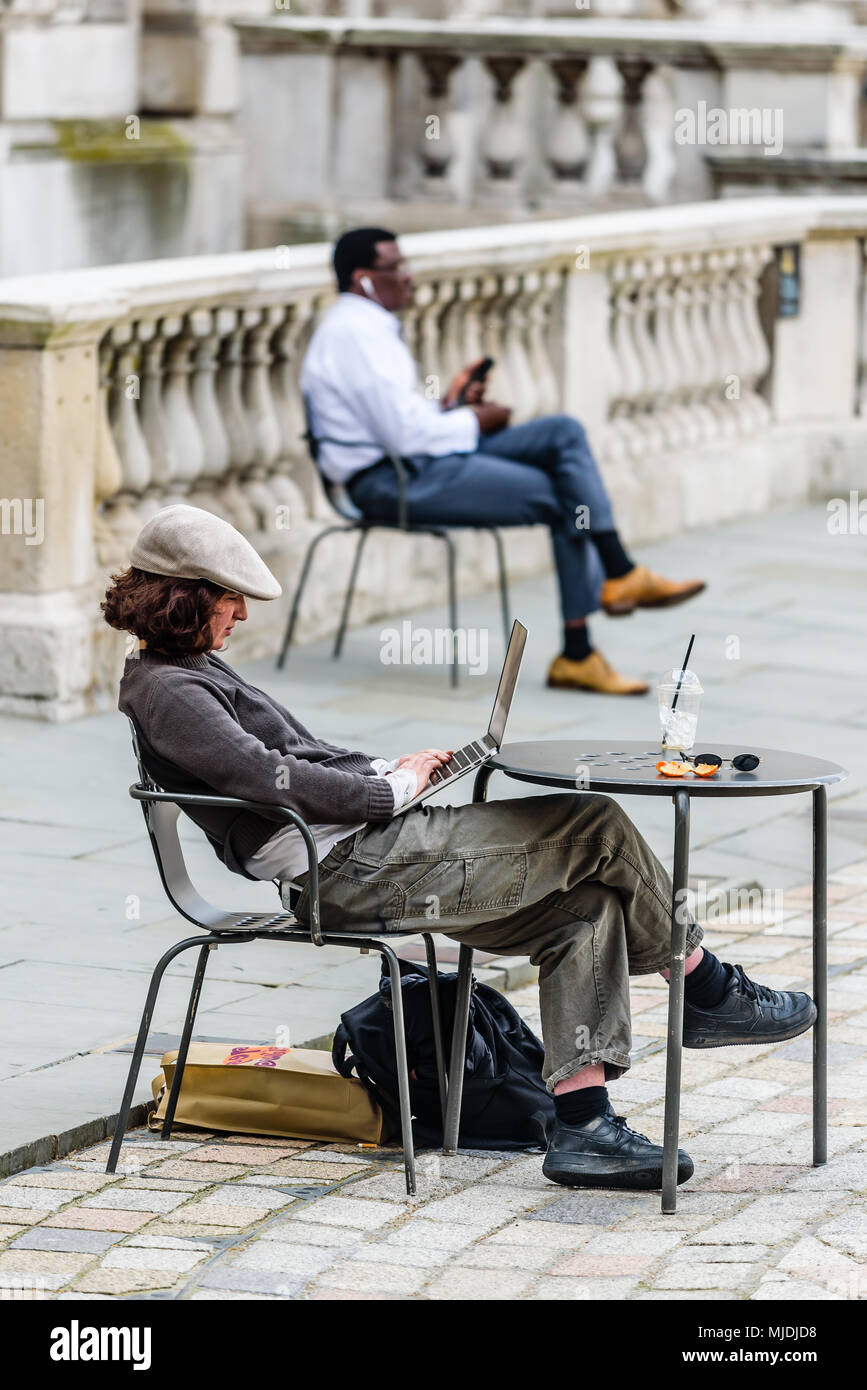 People photography at somerset house - Stock Image