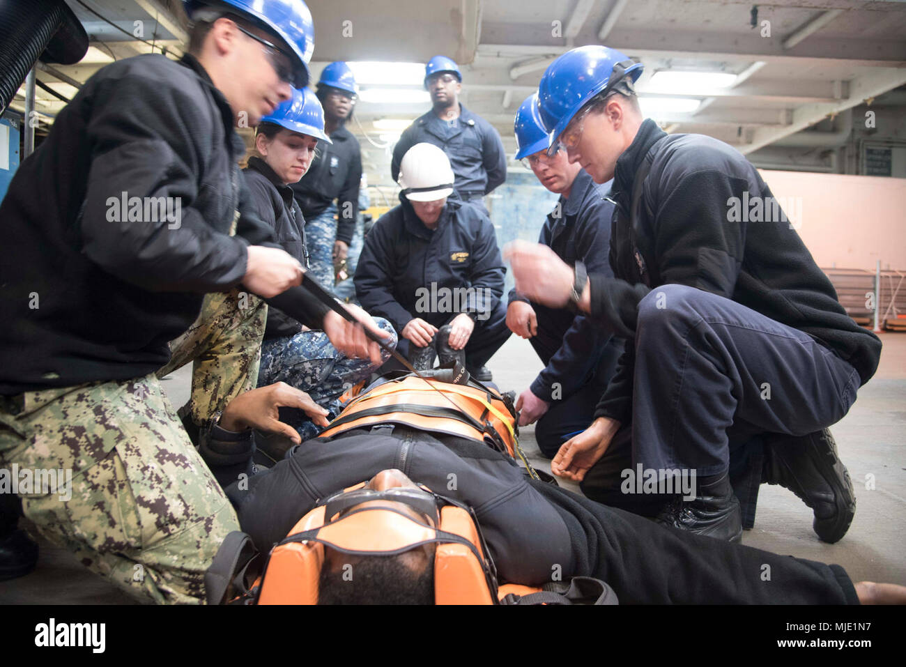 Bearer Stock Photos Images Page 23 Alamy Sakura Moth Hanger 160 Gr Va March 6 2018 Sailors Assigned To The Aircraft Carrier Uss Dwight