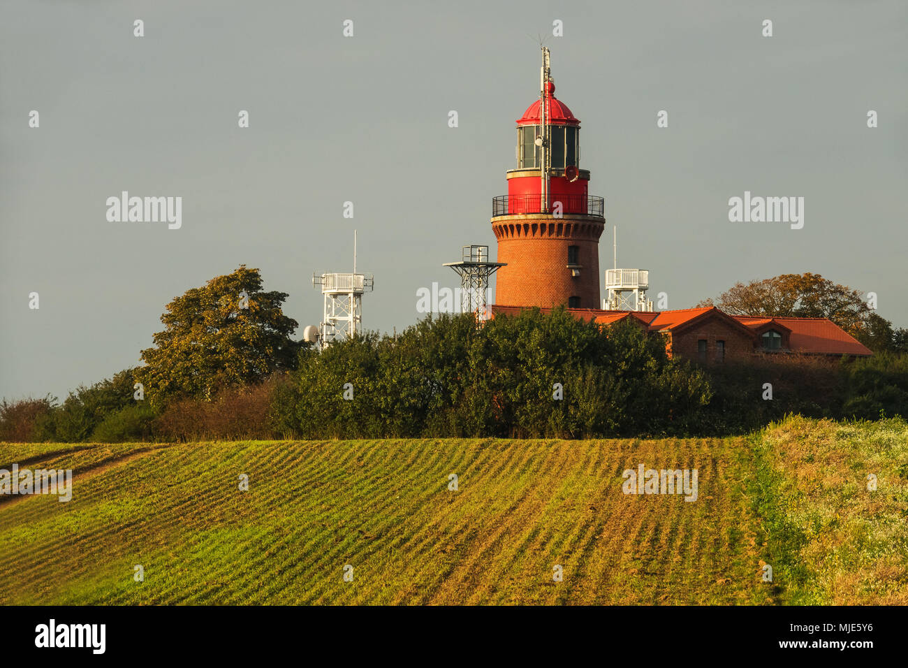 Lighthouse in the Bastorfer Huk, the Baltic Sea - Stock Image