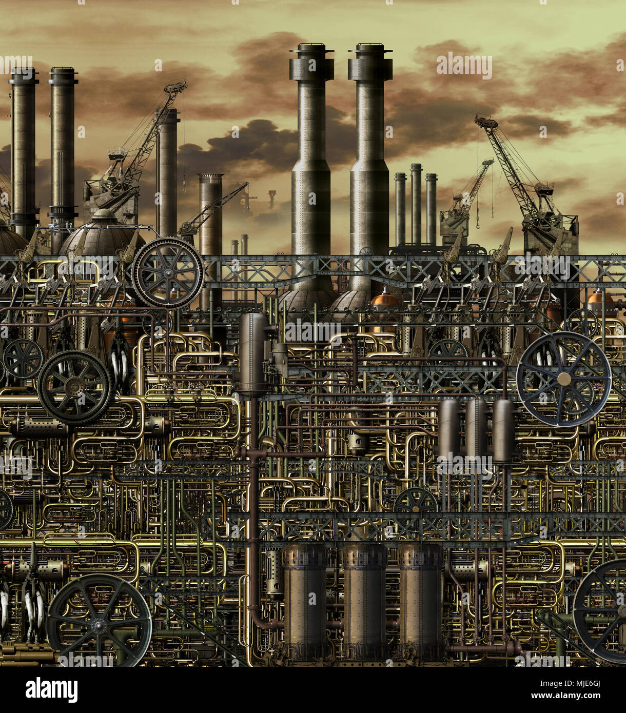 Effects of acid rain stock photos effects of acid rain for Industrial nightmare pictures