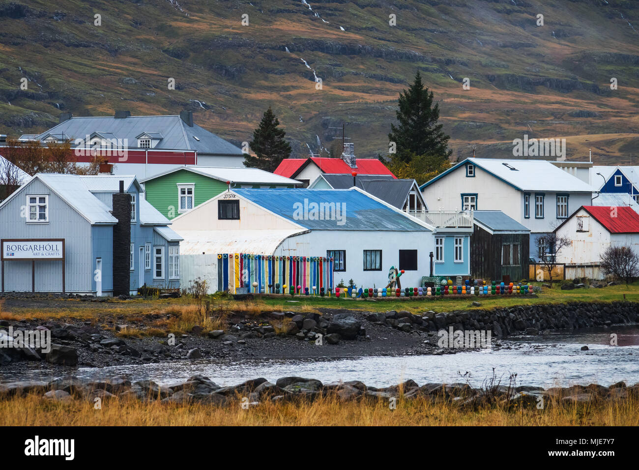 Seydisfjordur, Iceland - Stock Image