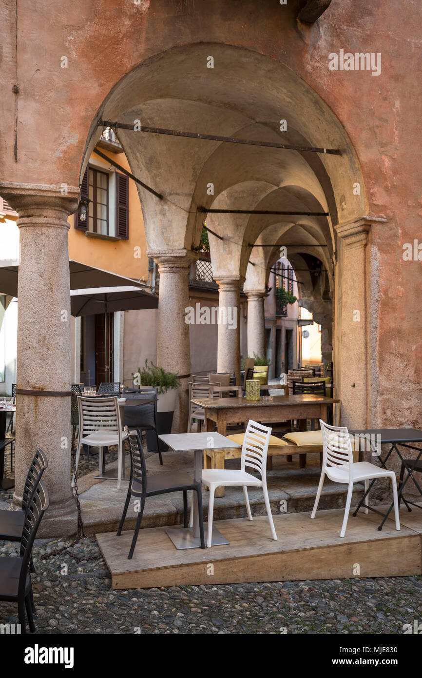 Arcades With Restaurant In Cannobio Lake Maggiore Province Of