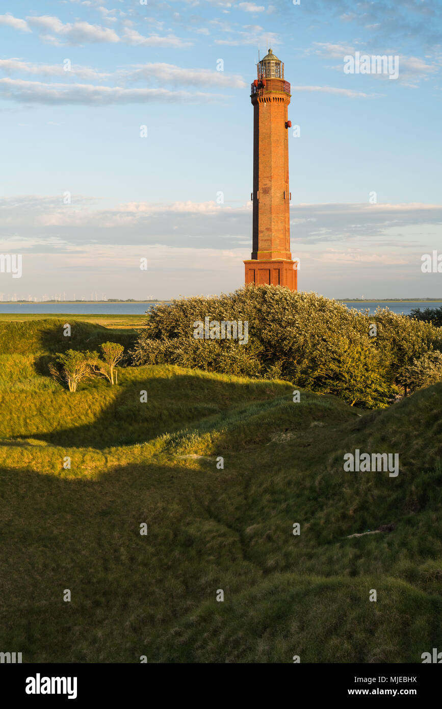 Lighthouse on the island of Norderney Stock Photo