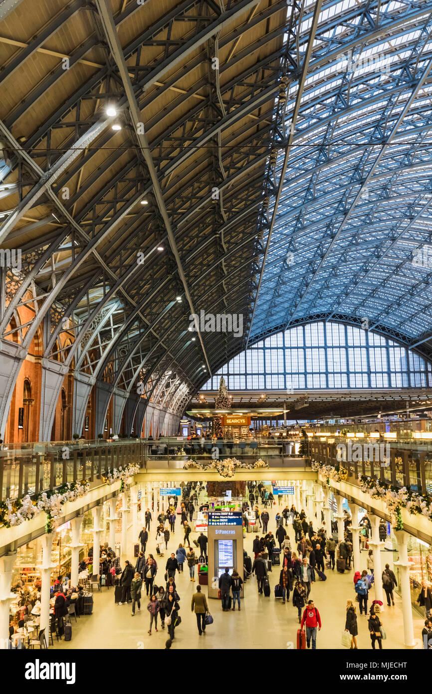 England, London, St Pancras International Station - Stock Image