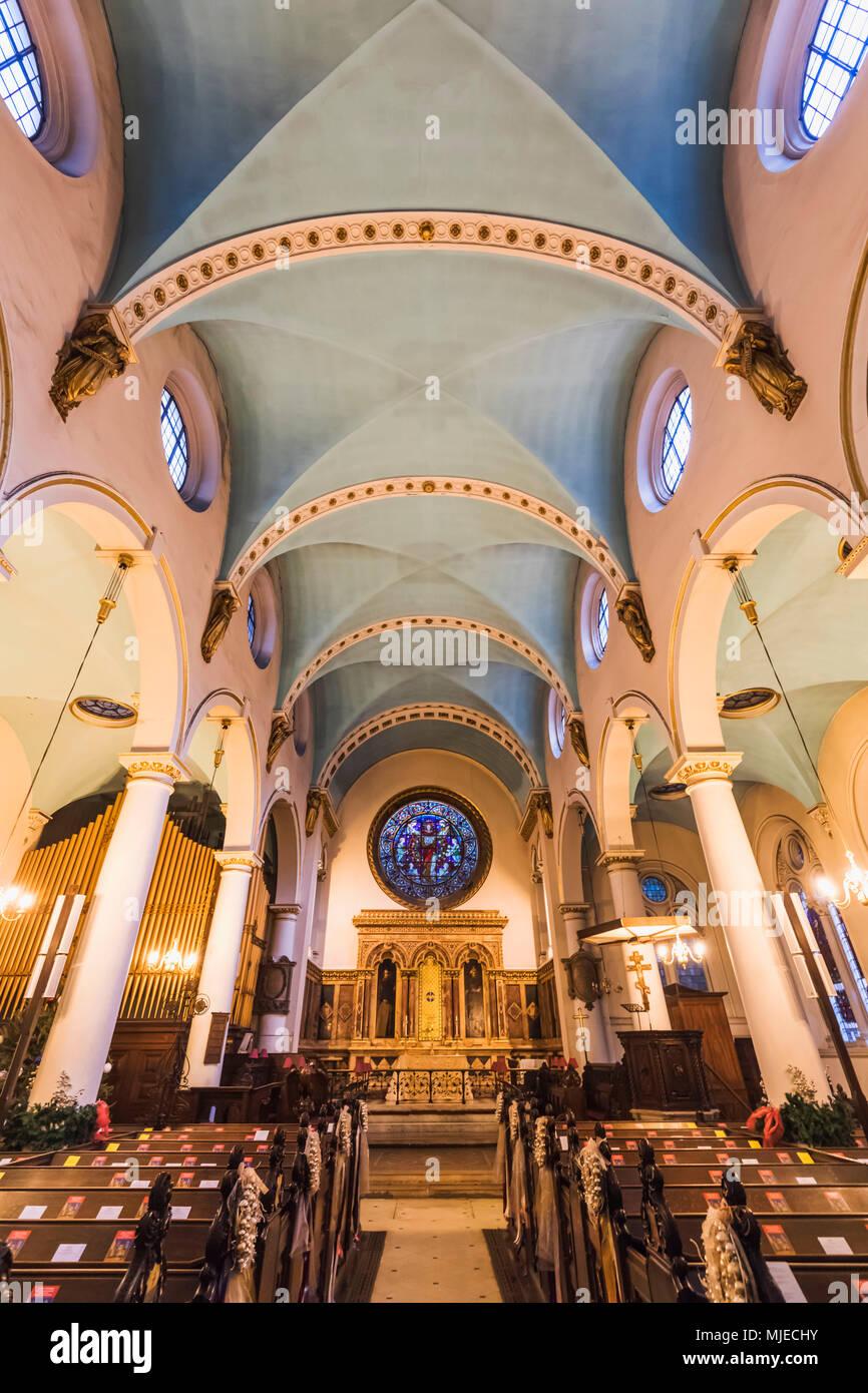 England, London, City of London, St.Michael's Cornhill Church - Stock Image