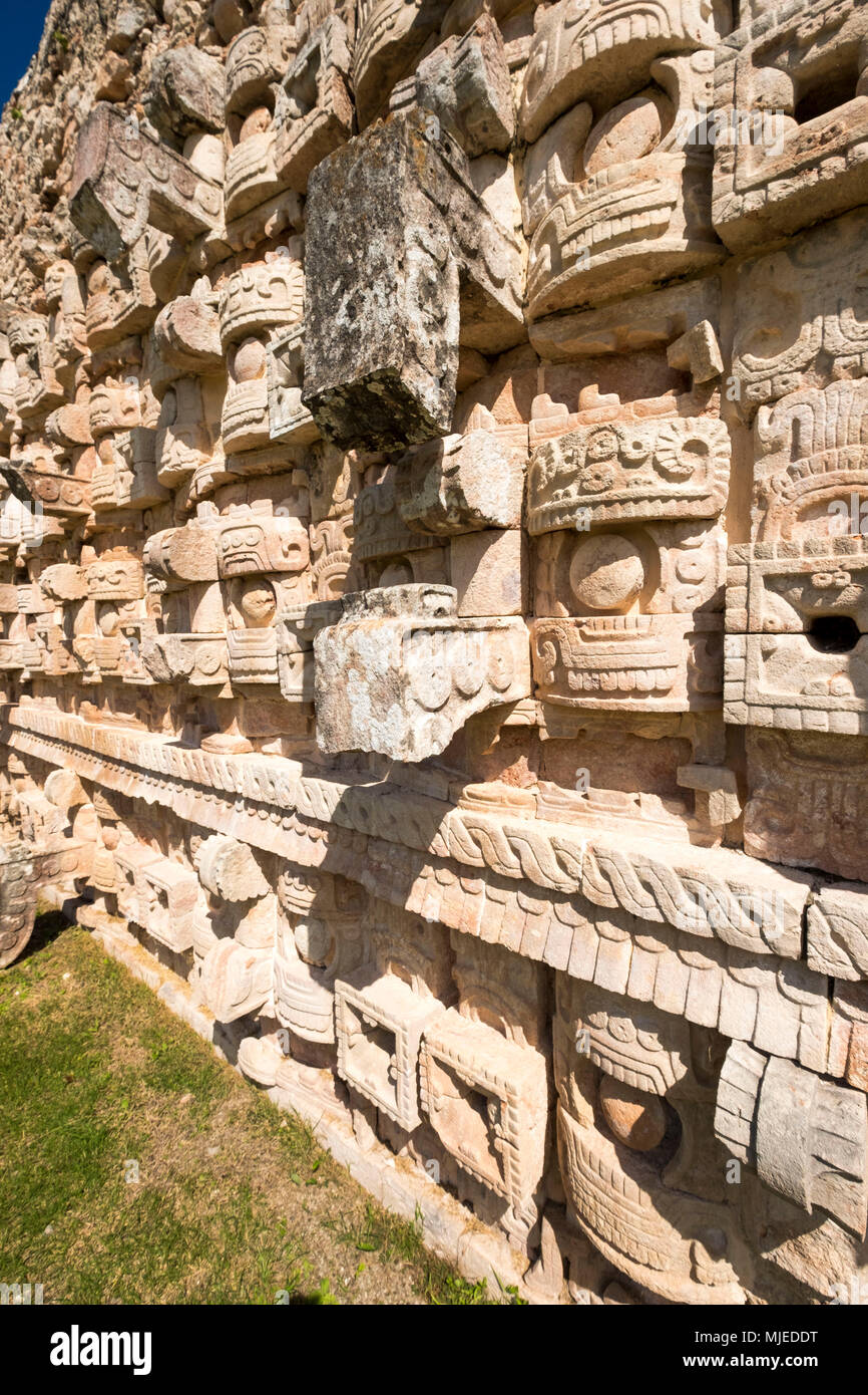 Kabah, Yucatan, Mexico - October 13, 2017: Mayan archaeological site of Kabah on the Puuc route in the state of Yucatan in Mexico Stock Photo