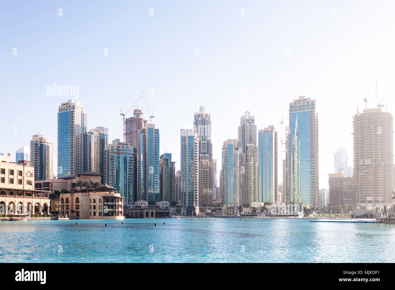 Dubai skyscrapers - Stock Image