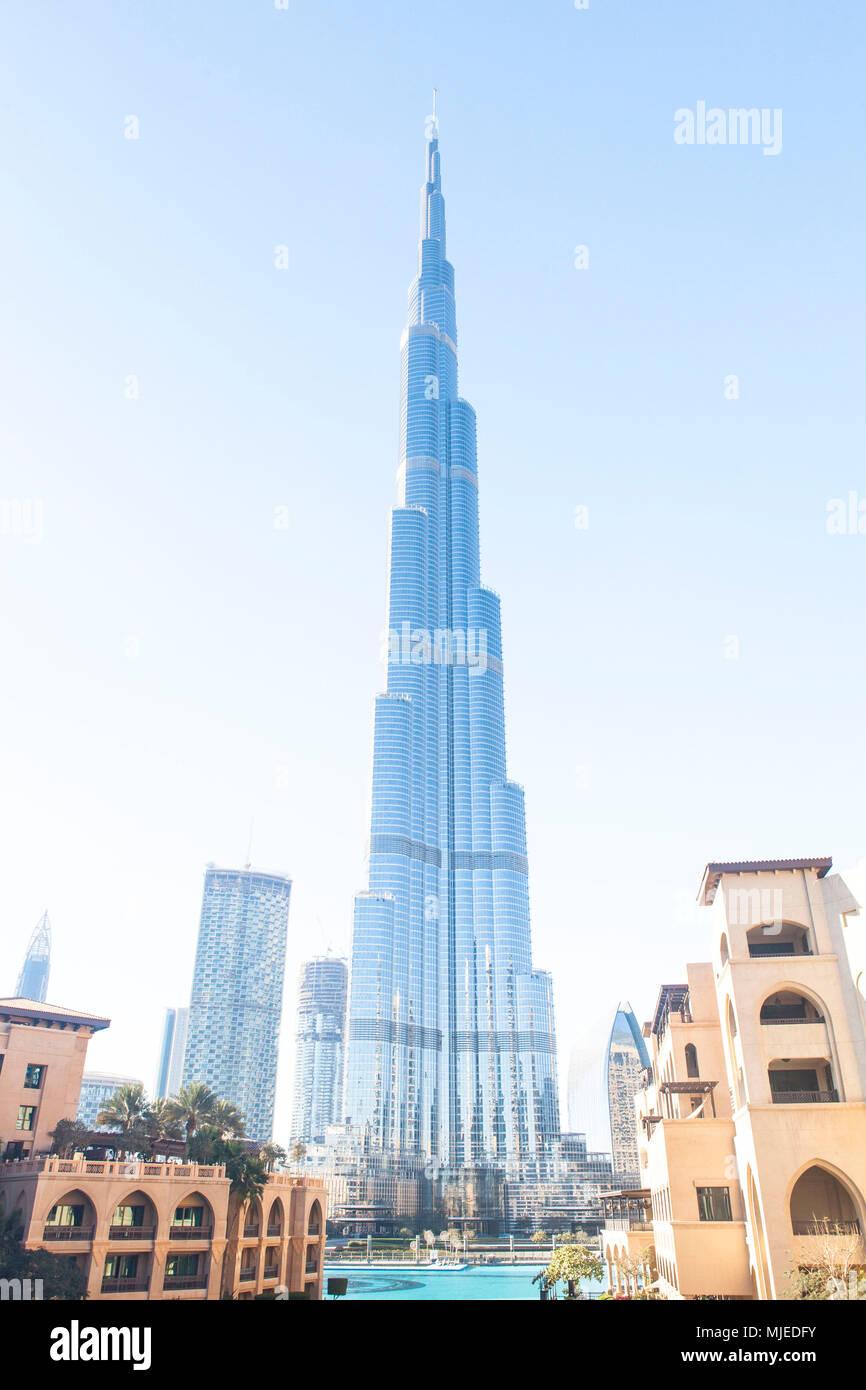 Dubai, Burj Khalifa, Dubai Mall - Stock Image