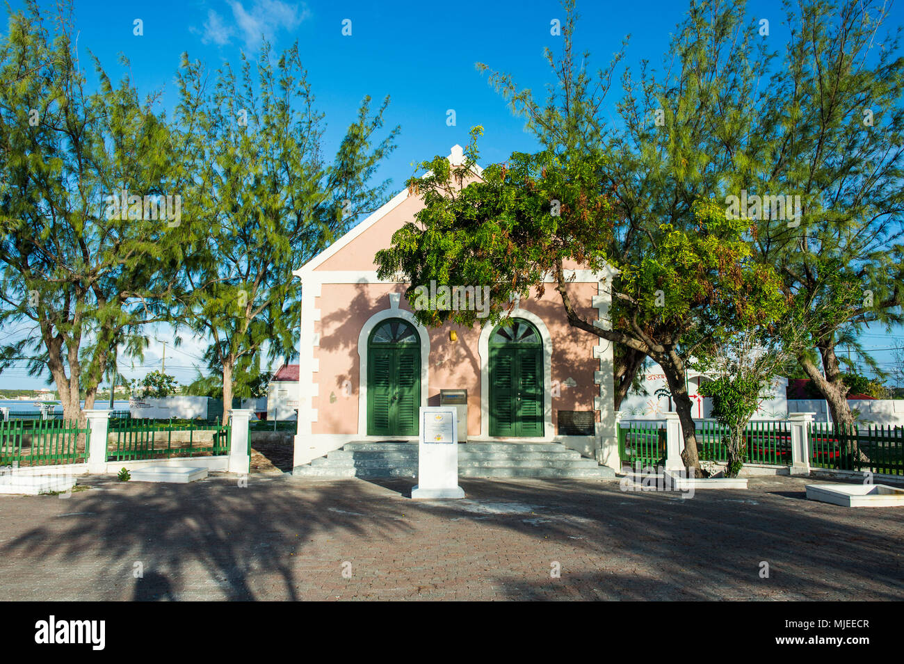 Colonial house, Cockburn town, Grand Turk, Turks and Caicos Stock Photo