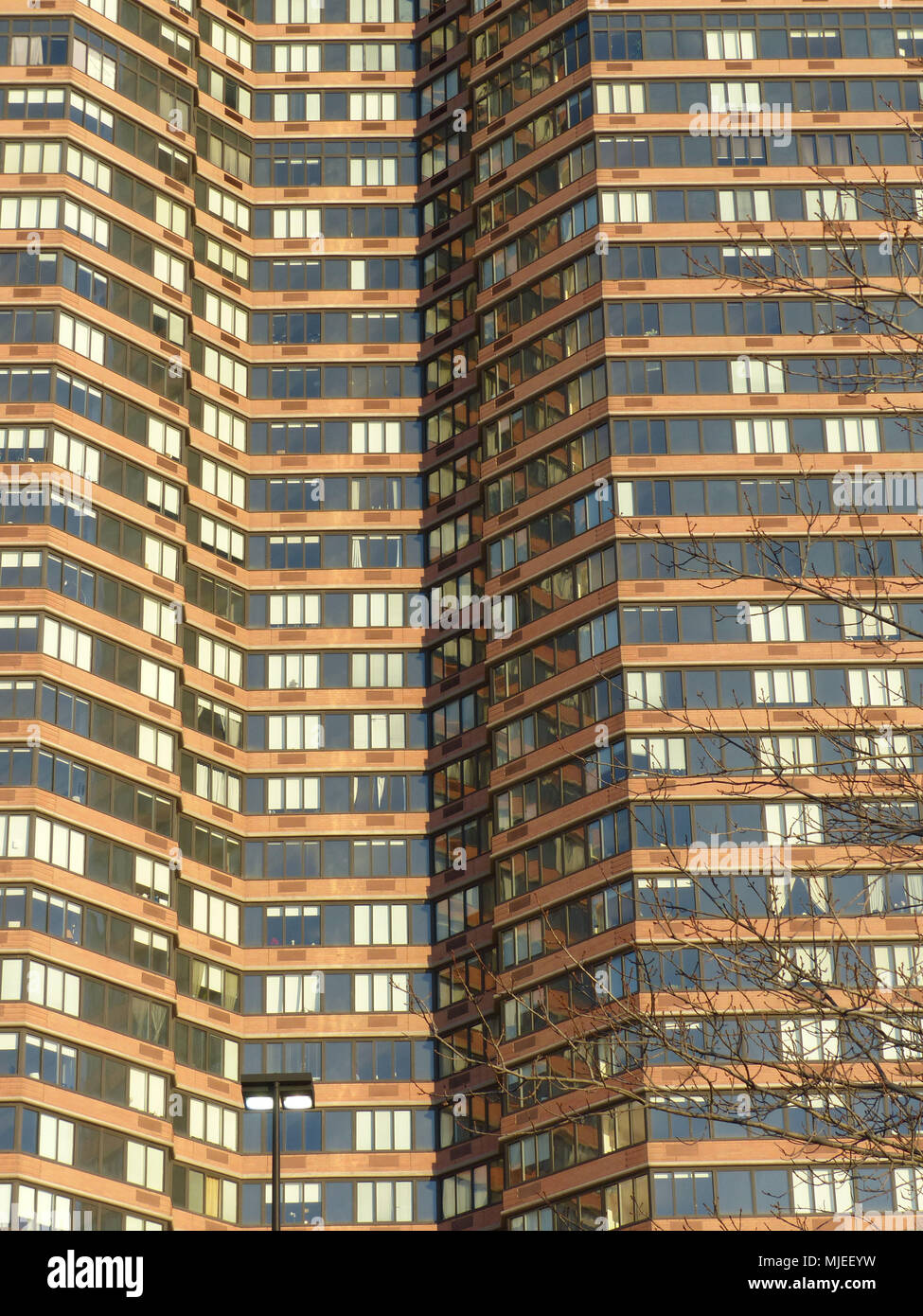 Apartment building on West 42nd Street in New York City - Stock Image