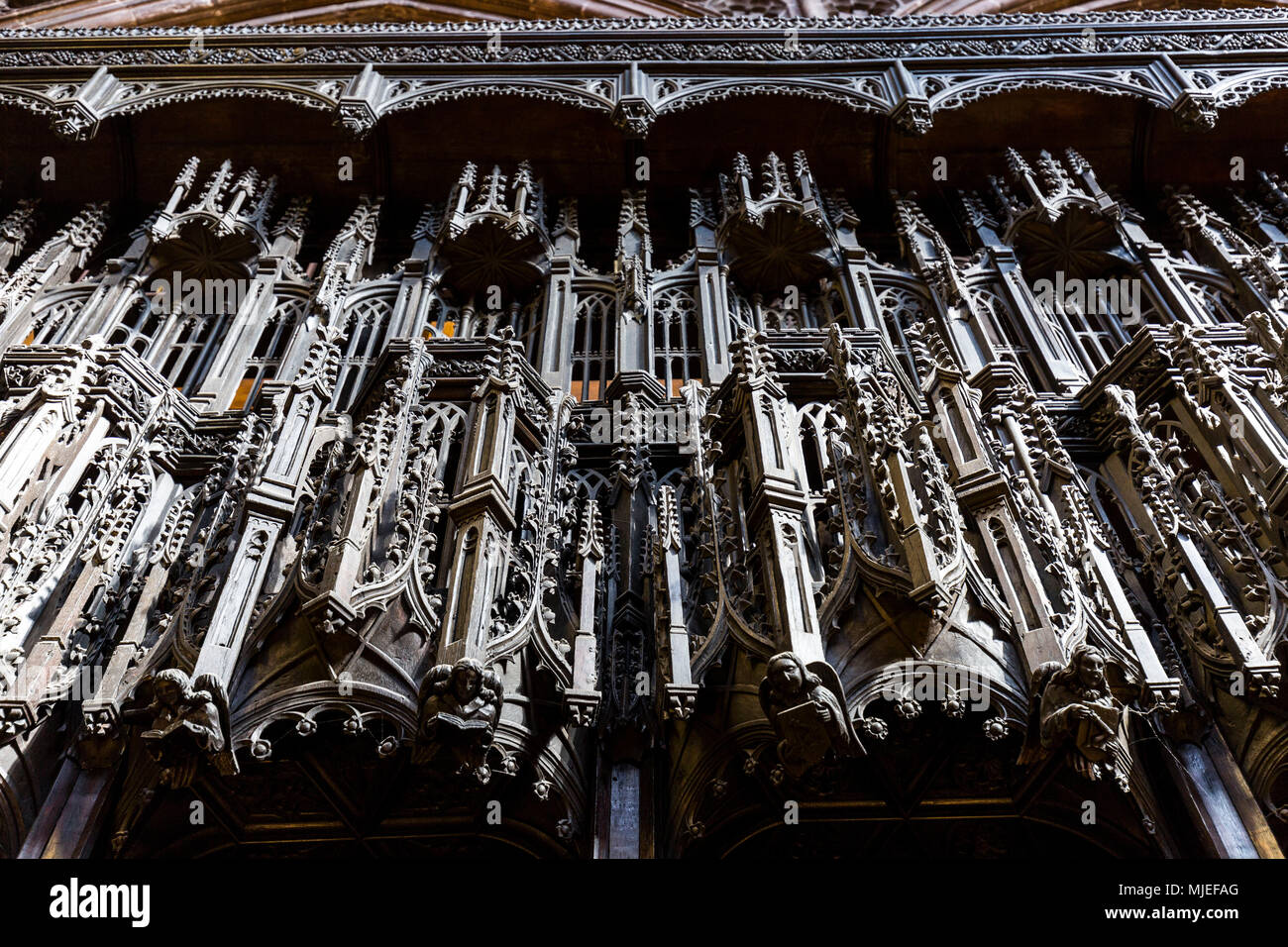 Europe, England, United Kingdom, Manchester - Manchester Cathedral - Stock Image