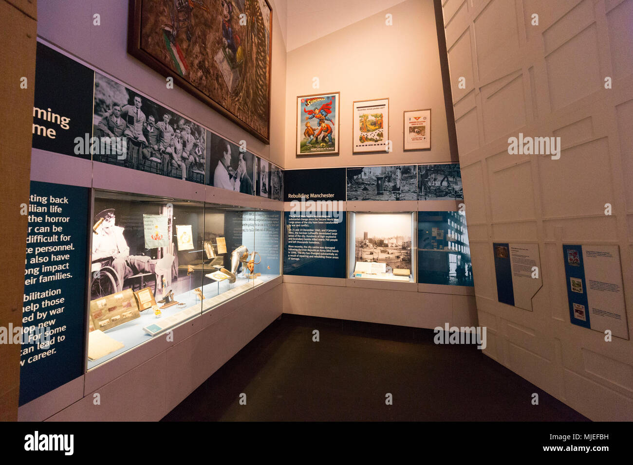 Europe, England, United Kingdom, Manchester - The Imperial War Museum North, Salford Quays / IWM North - Stock Image