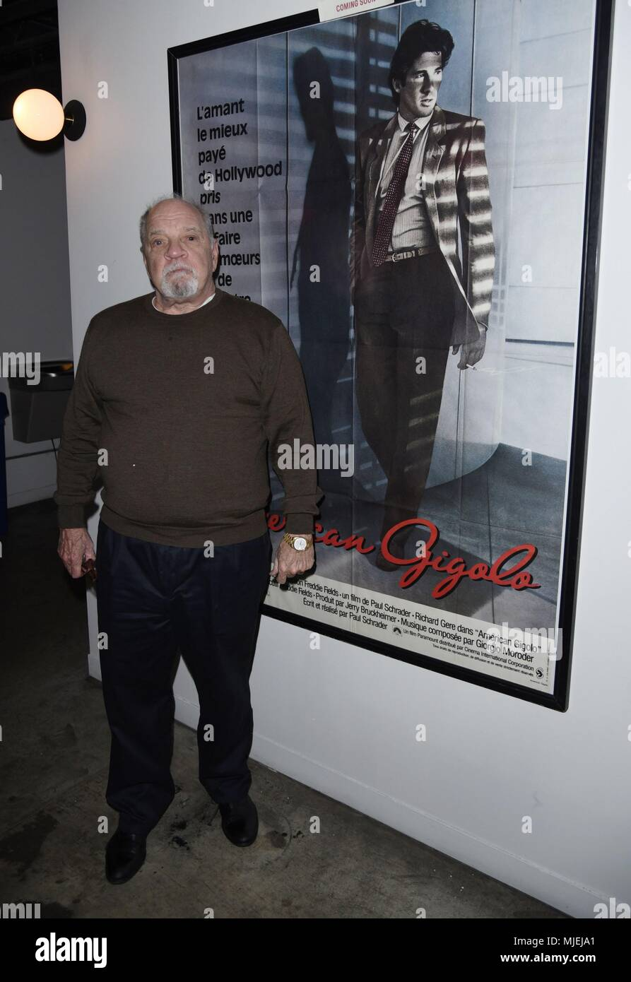 New York, NY, USA. 4th May, 2018. Paul Schrader, appears at The Metrograph for a Weekend Retrospective of Film Introductions and Audience Q&A's out and about for Celebrity Candids - FRI, New York, NY May 4, 2018. Credit: Derek Storm/Everett Collection/Alamy Live News - Stock Image