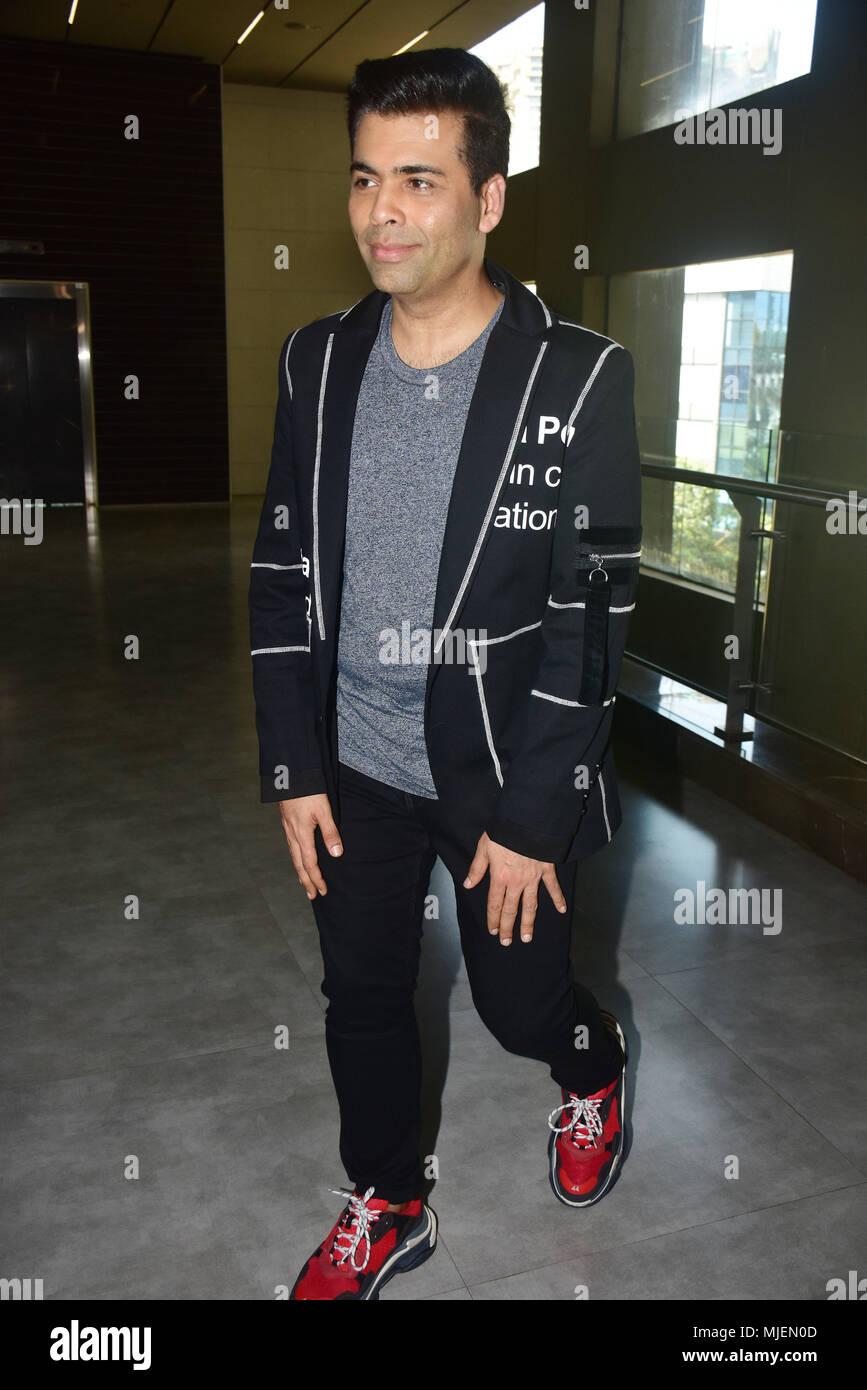 Mumbai, India  4th May, 2018  Indian film Director Karan