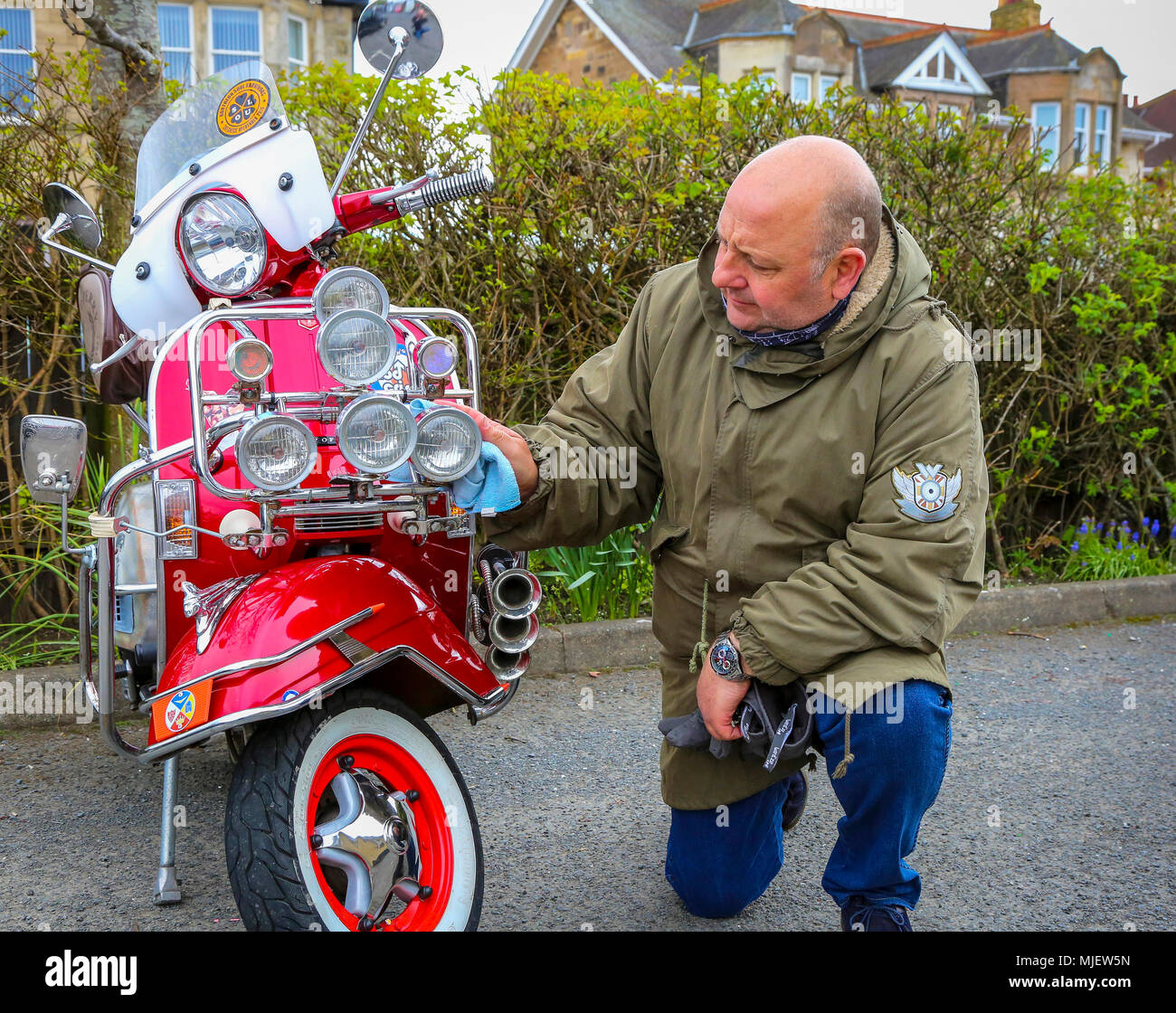 Troon, Ayrshire, UK  5th May, 2018  Over 100 scooters, riders and