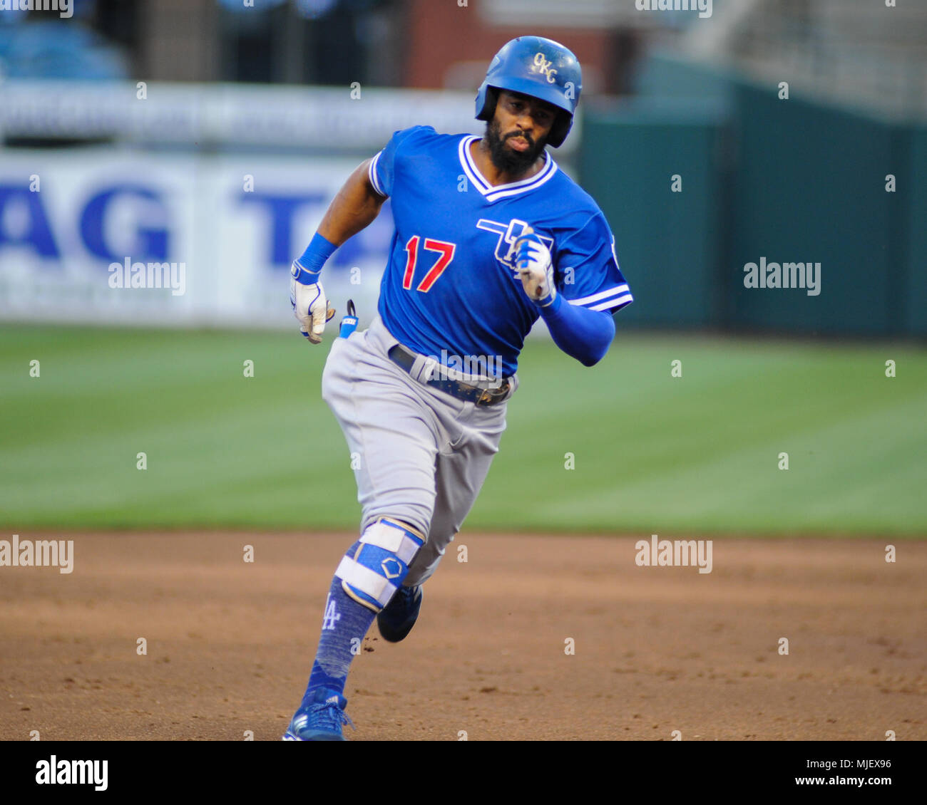 May 02, 2018; Memphis, TN, USA; during the Pacific Coast League Triple-A baseball game at Auto Zone Park. Memphis defeated Oklahoma City, 8-7. Kevin Lanlgey/CSM - Stock Image