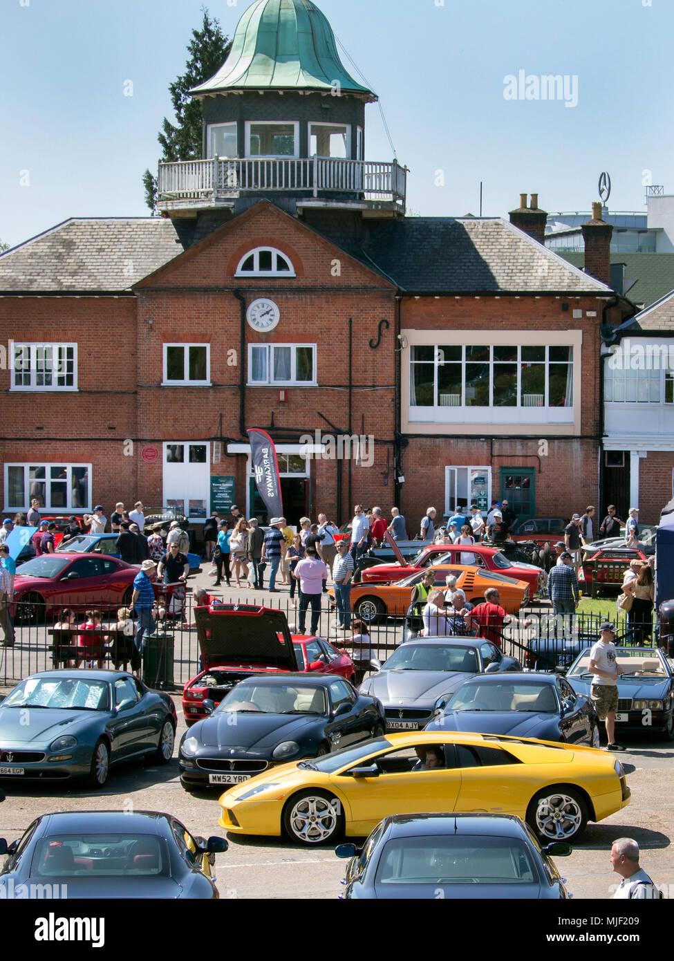 Italian car day at Brooklands Museum in Weybridge Surrey 05/05/2018 - Stock Image