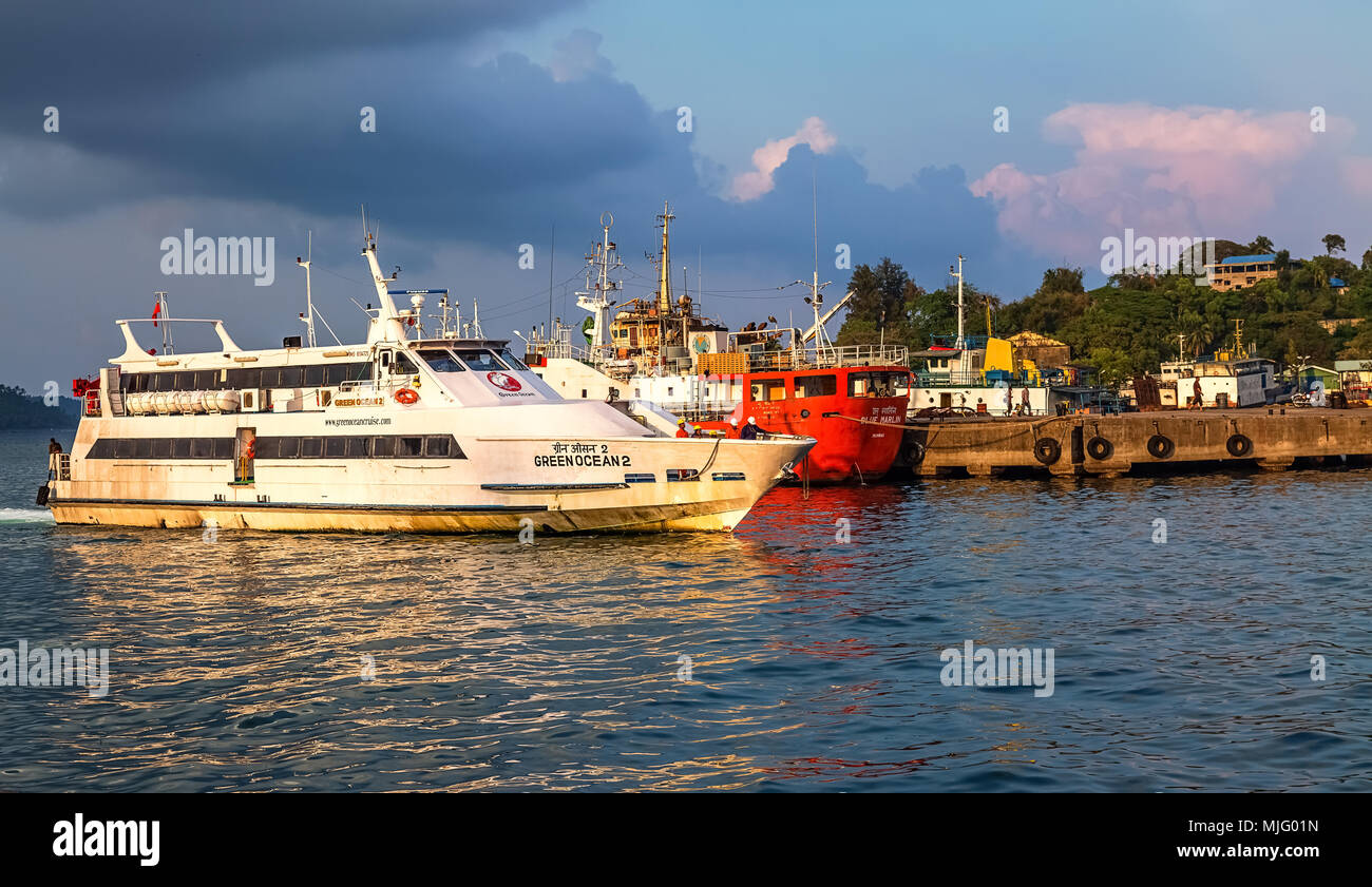 Shipping Port Blair Andaman Nicobar Stock Photos Amp Shipping Port Blair Andaman Nicobar Stock
