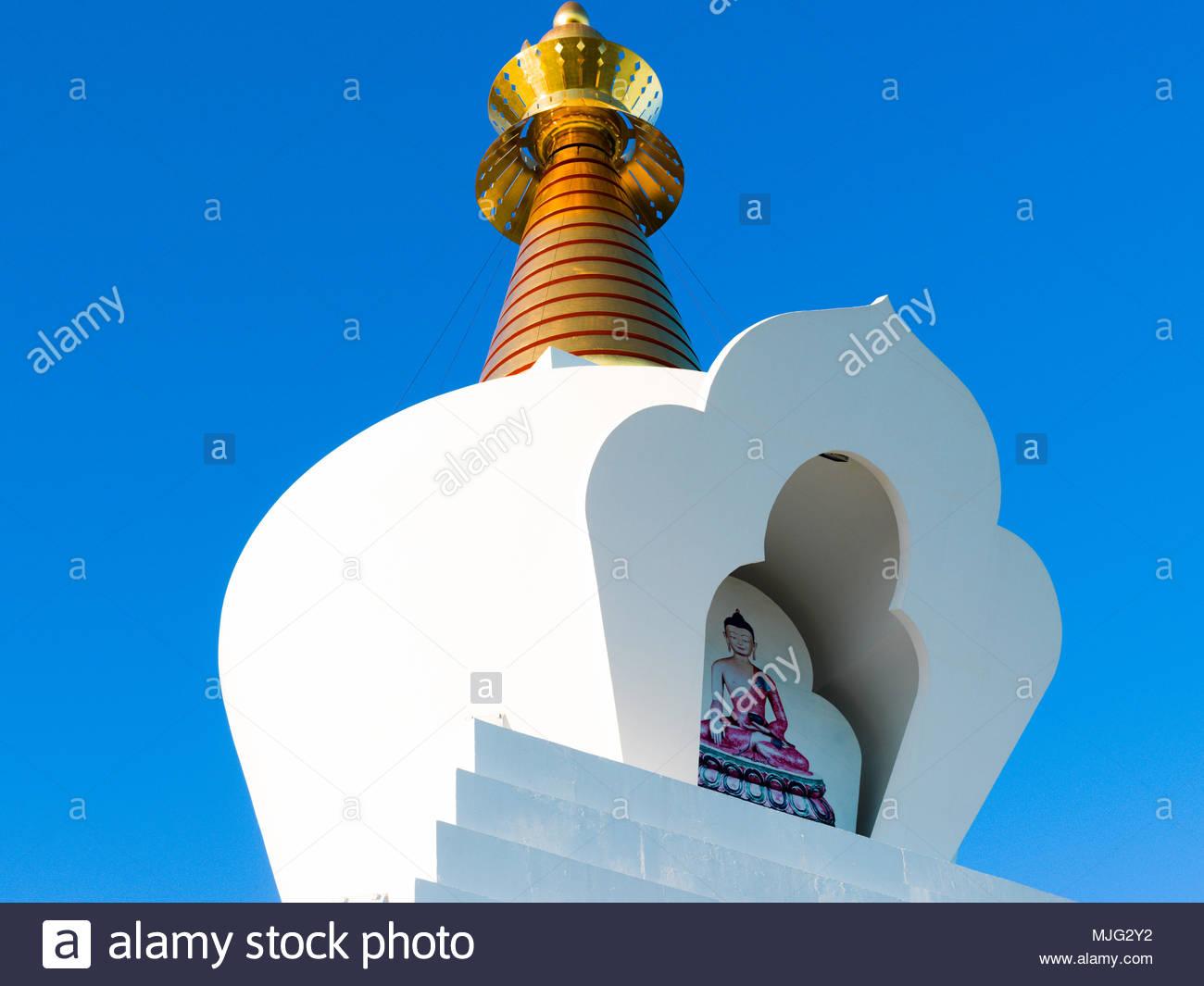 Estupa de la Iluminacion, Benalmadena, Costa del Sol Occidental, Malaga, Andalusia, Spain, Iberian Peninsula - Stock Image