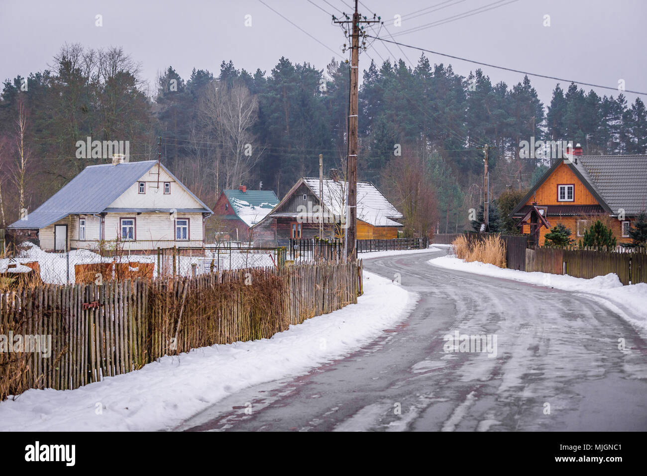 Gruszki village within Hajnowka County, Podlaskie Voivodeship of Poland - Stock Image