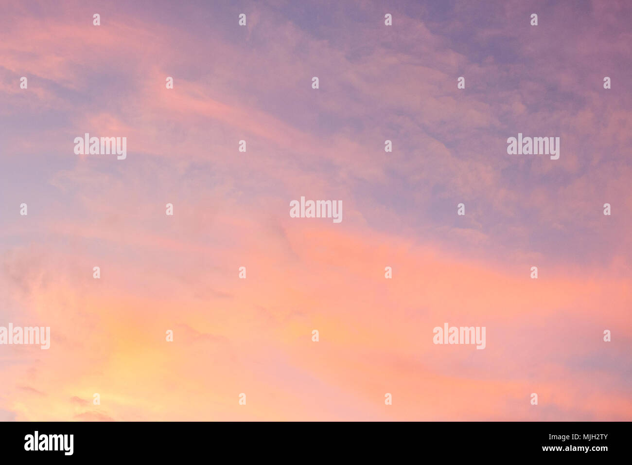 Serenity Blue And Rose Quartz Color Of Evening Sky Sun Set Sky