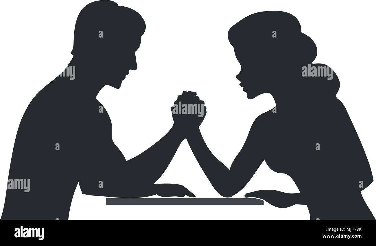 Man vs woman - Stock Vector