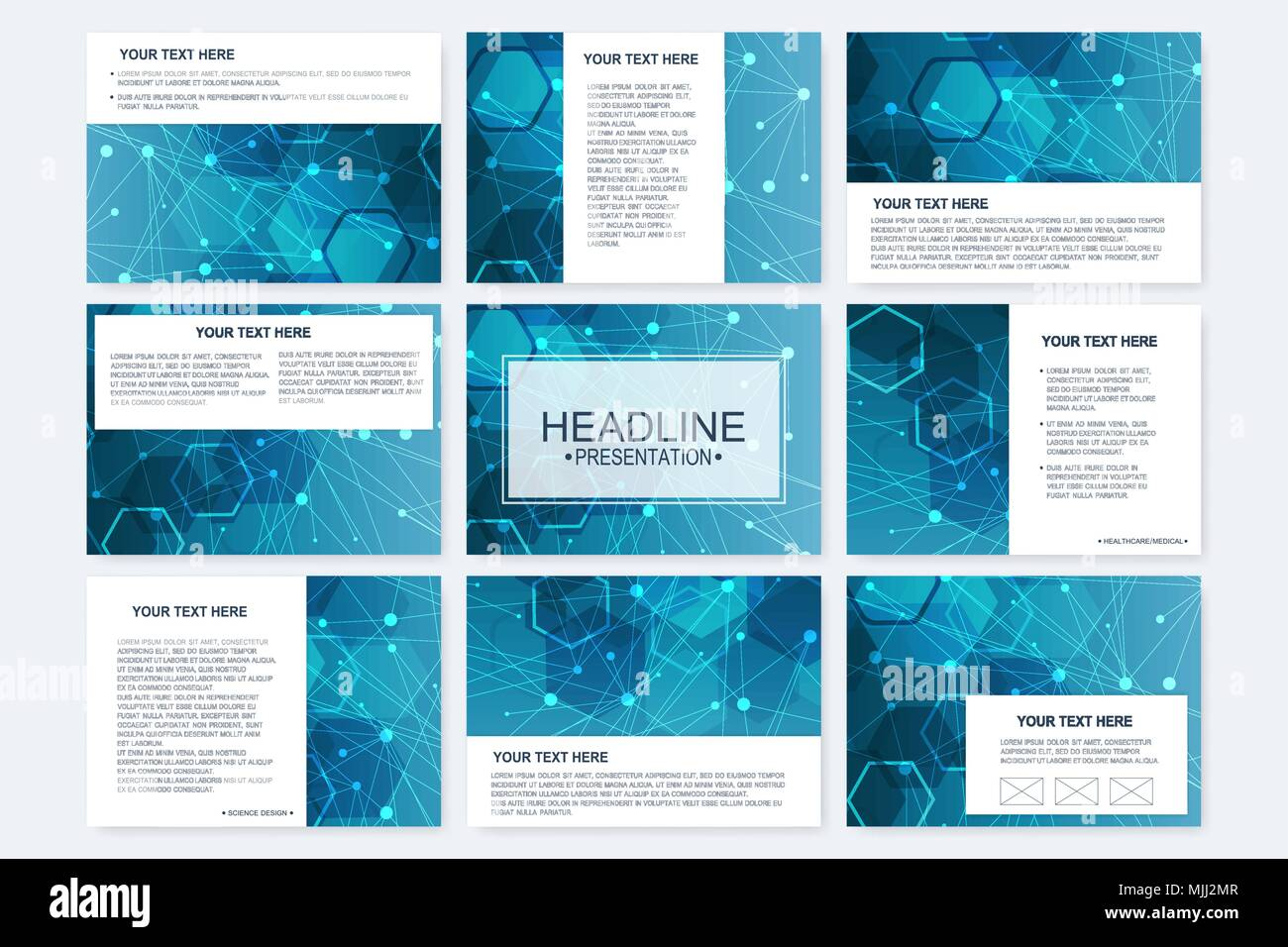 big set of vector templates for presentation slides modern graphic