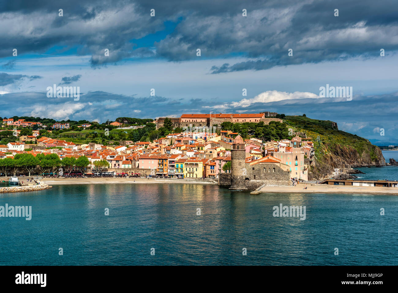 Collioure, Pyrenees-Orientales, France - Stock Image