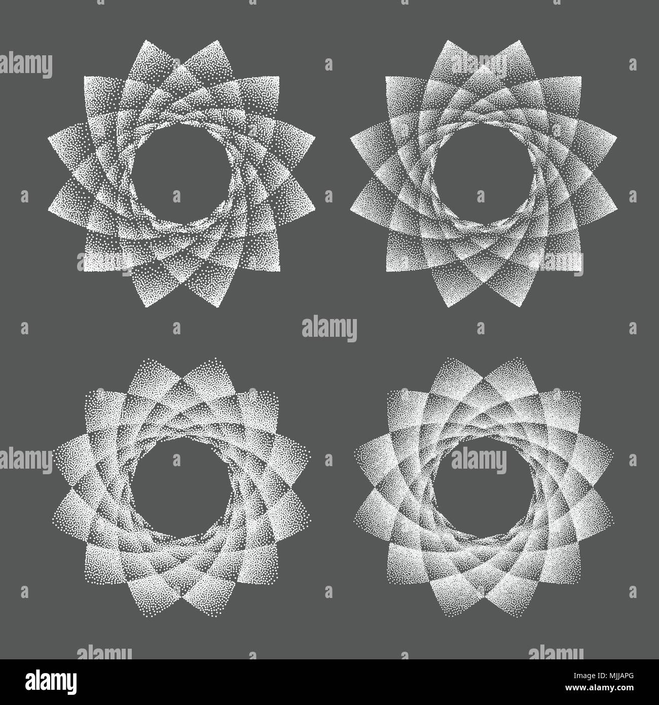 Abstract Dot Symbol Sacred Geometry Phyllotaxis Isolated Halftone