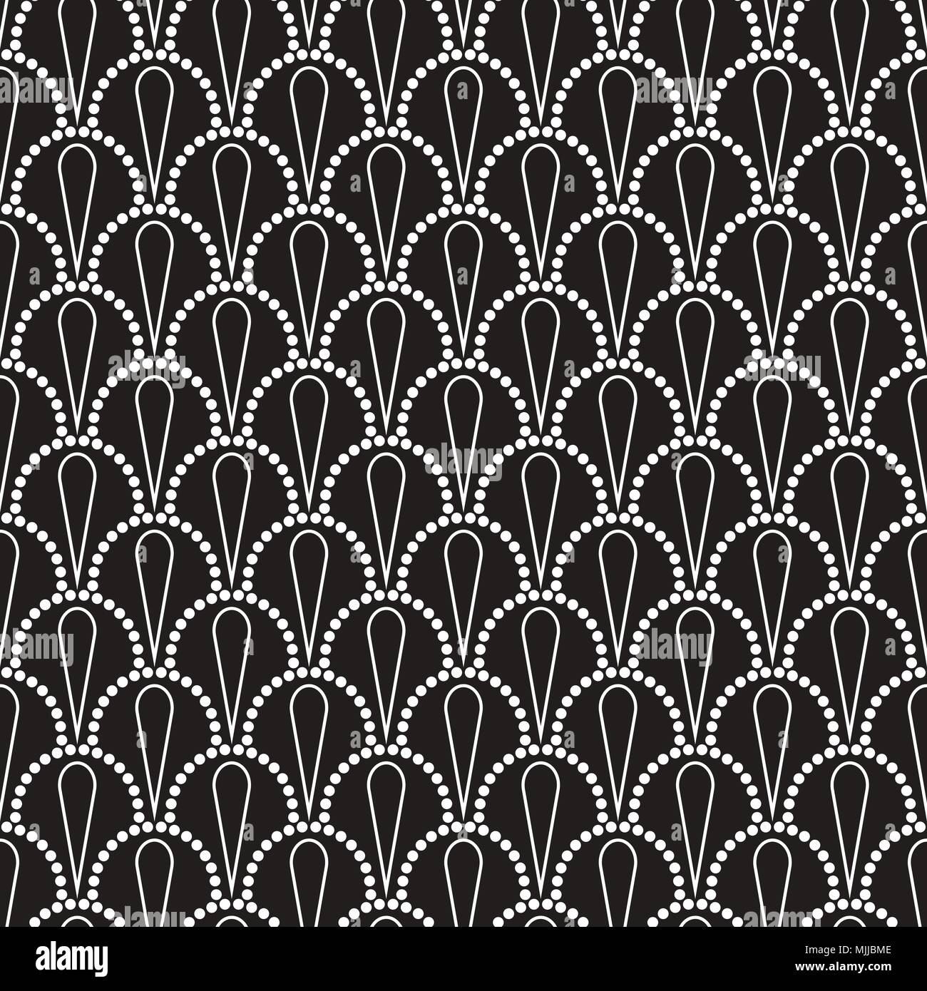 Vector Abstract Seamless Wavy Pattern With Dotted