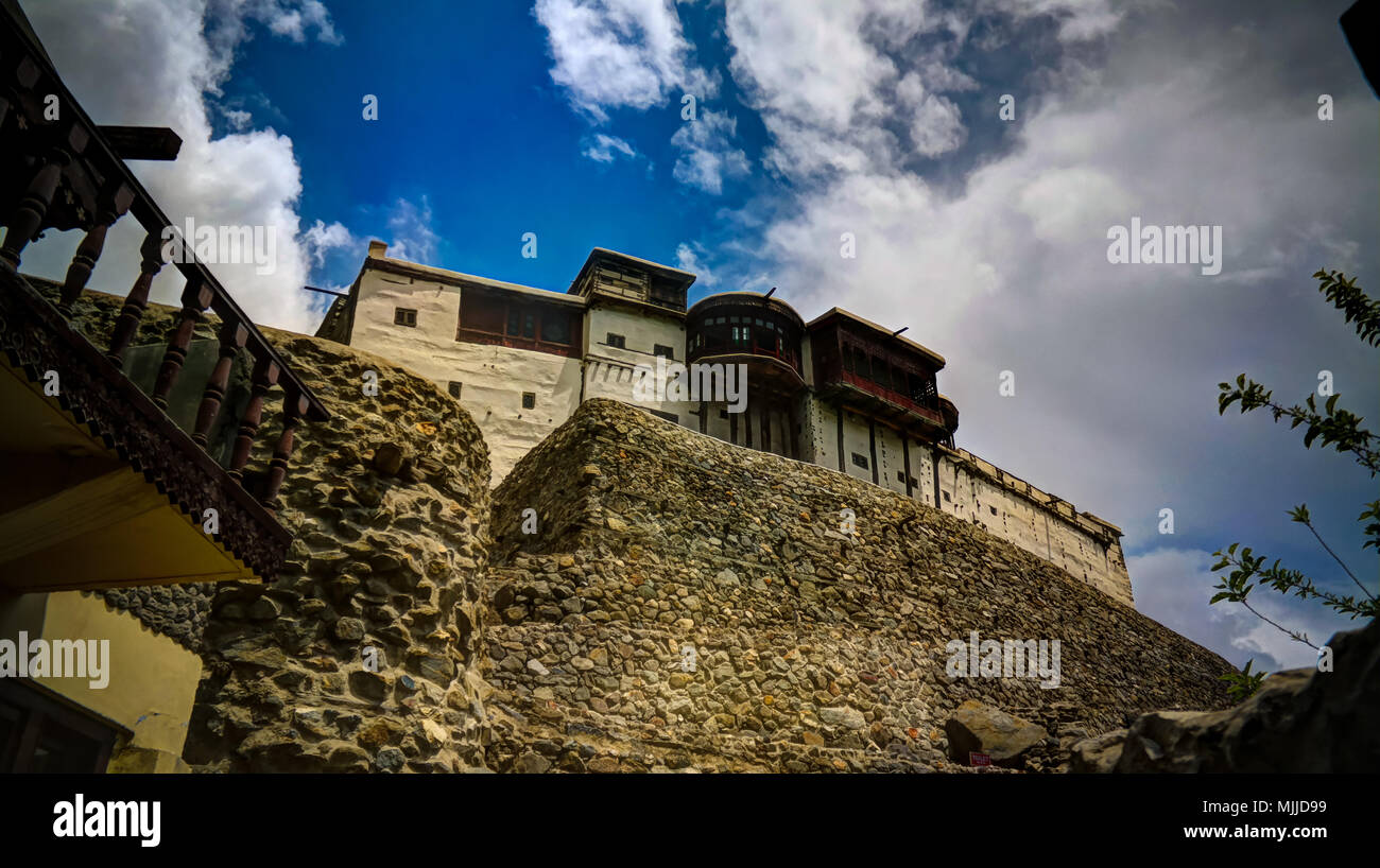 Baltit fort in Karimabad, Hunza valley, Pakistan - Stock Image