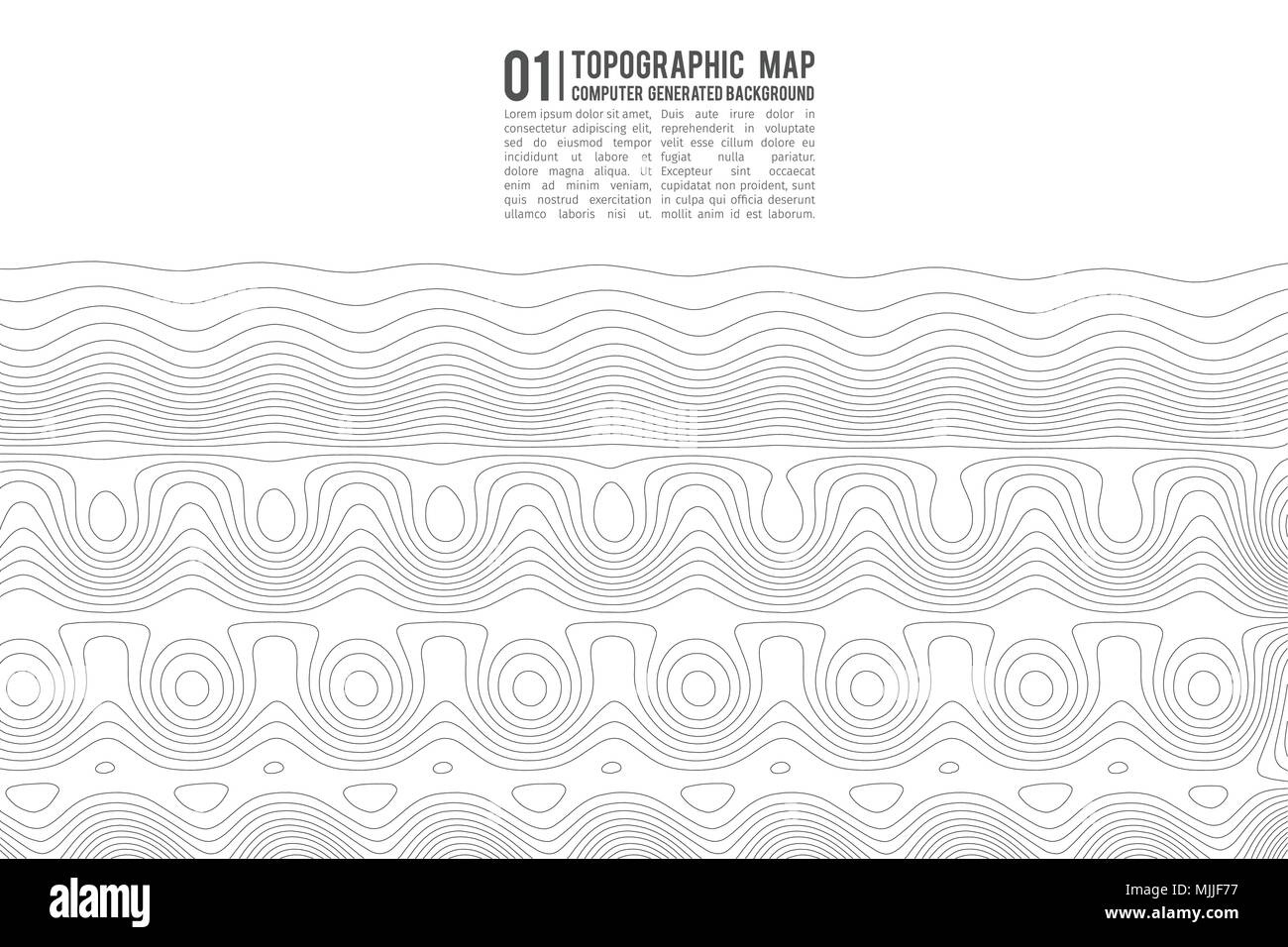 Topographic map contour background. Topo map with elevation. Contour map vector. Geographic World Topography map grid abstract vector illustration . - Stock Image