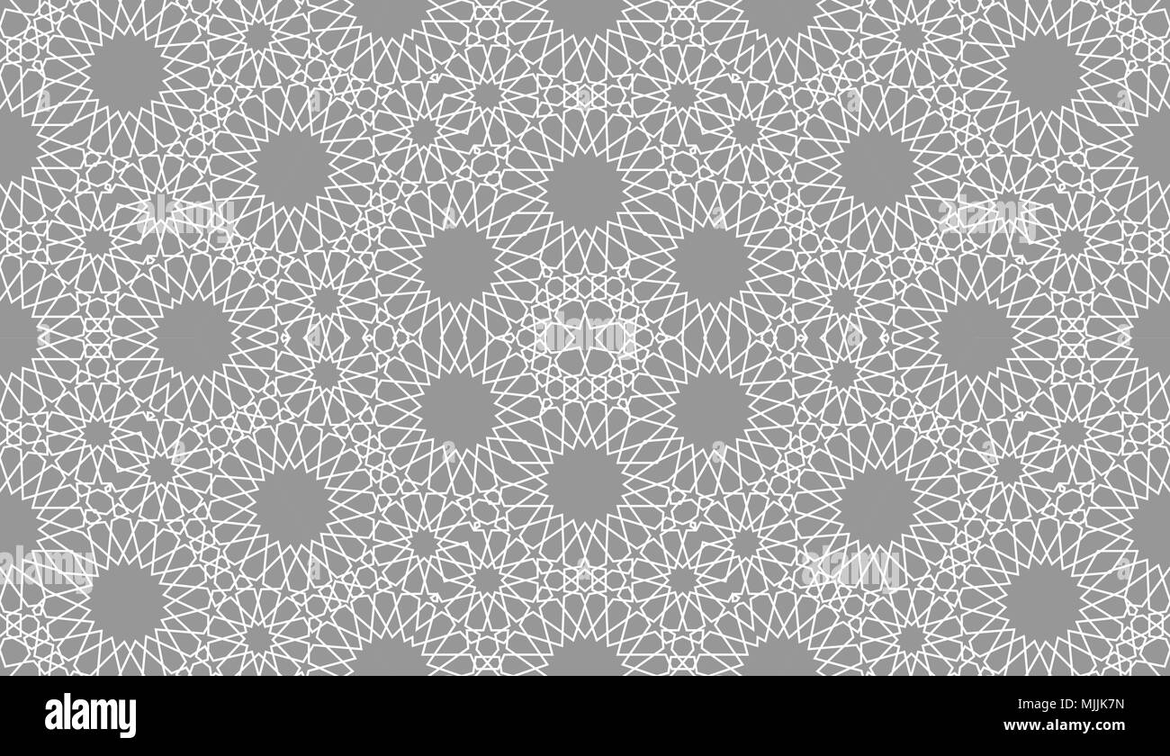 Geometric Arabic Seamless Pattern. Abstract Islamic Vector