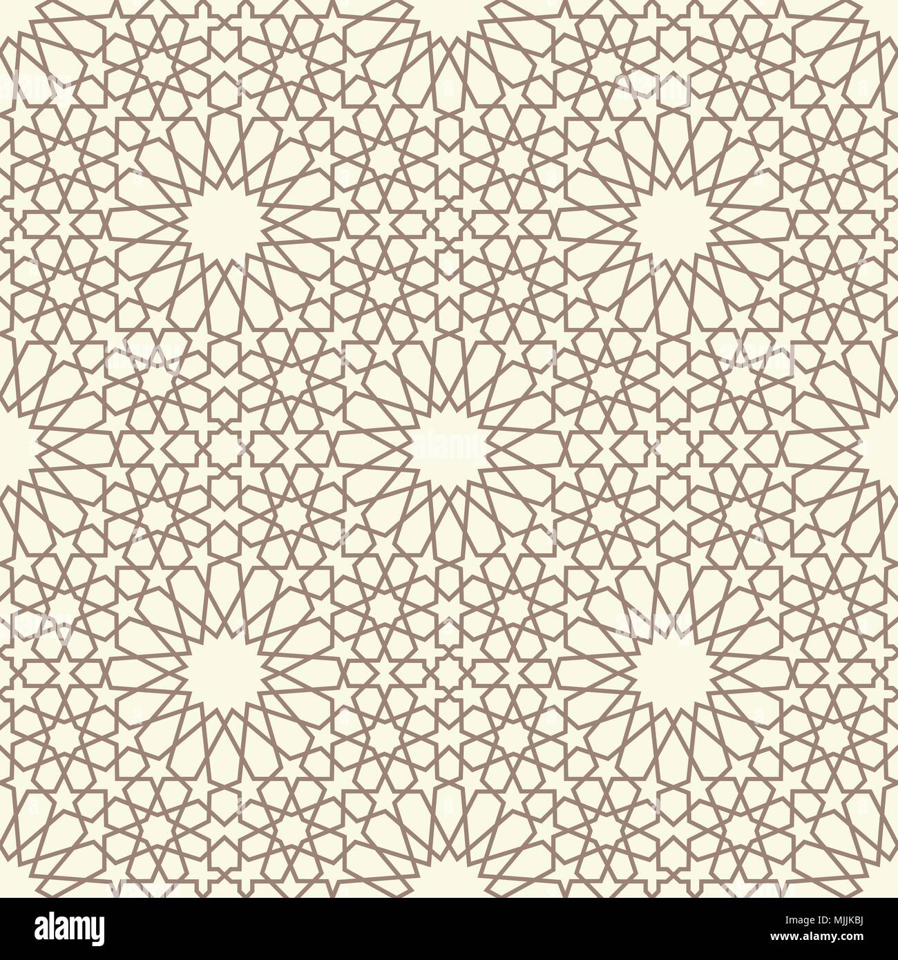 Geometric arabic seamless pattern  Abstract islamic vector
