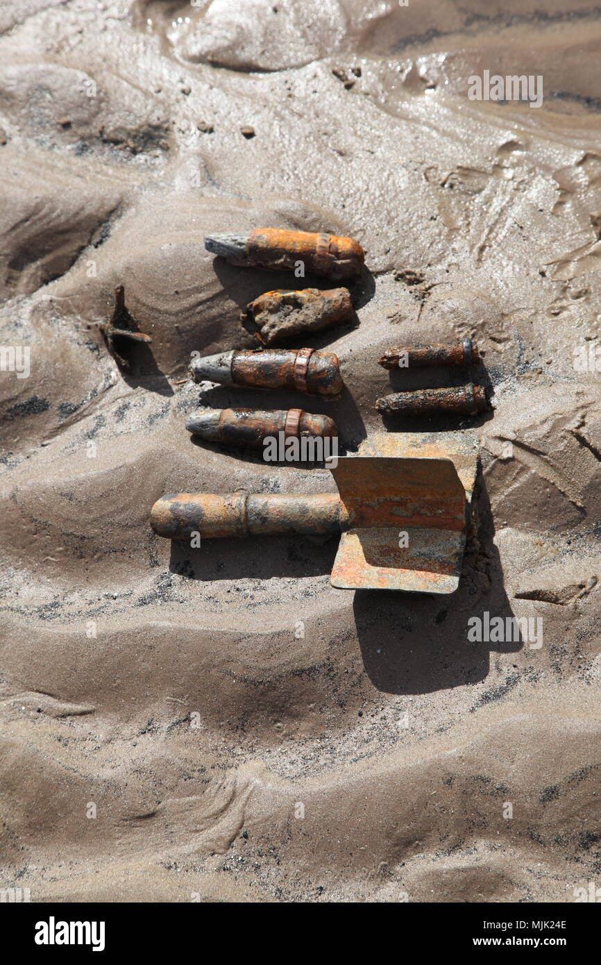 aircraft bombs and ammunition, air raid,  poison gas attack Damascus, Syria - Stock Image