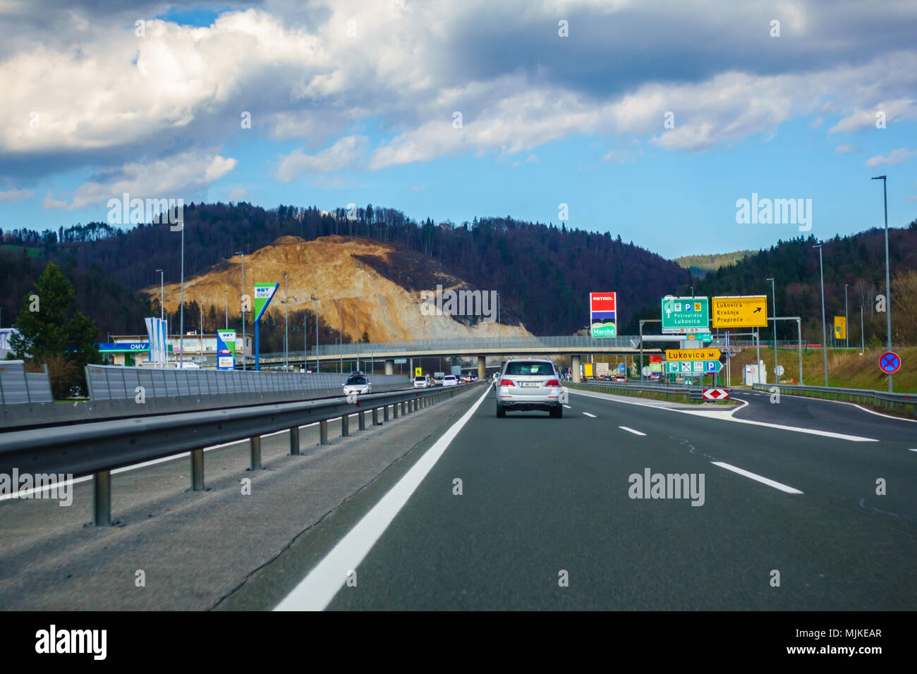 Resting place Lukovica on the A1 highway in Slovenia - Stock Image