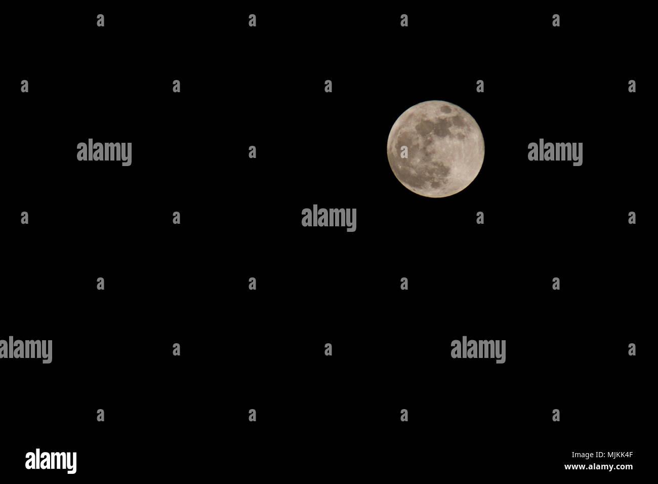super blue blood moon - Stock Image