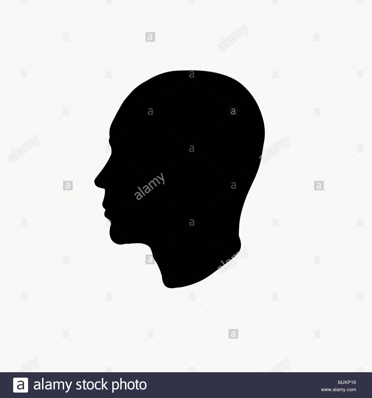 Profile Of A Bald Man Silhouette Stock Photo 183601858 Alamy