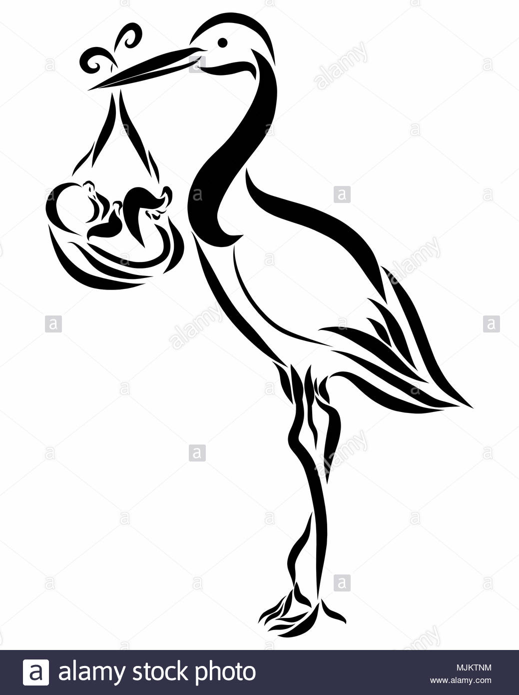 baby stork cut out stock images amp pictures alamy