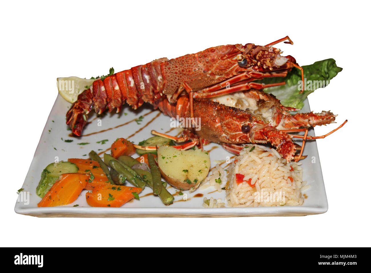 Moroccan Langoustine Meal - Stock Image