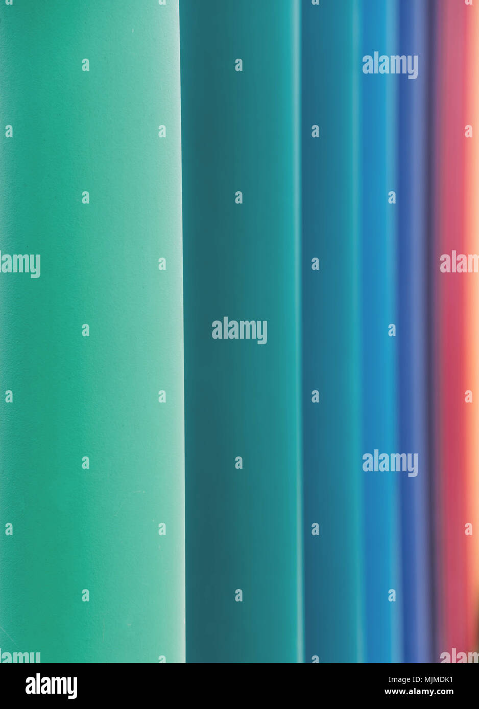 Overlapping colorful background in colors of rainbow spectrum. - Stock Image