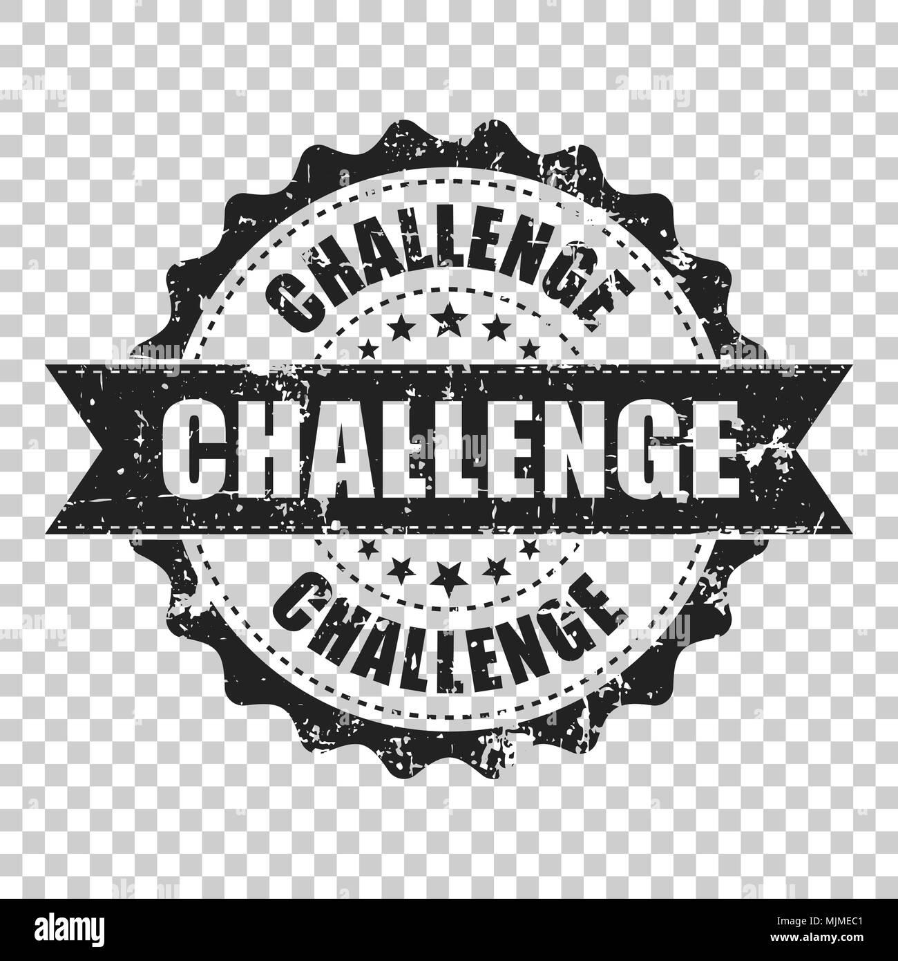 Challenge Scratch Grunge Rubber Stamp Vector Illustration On Isolated Transparent Background Business Concept Pictogram