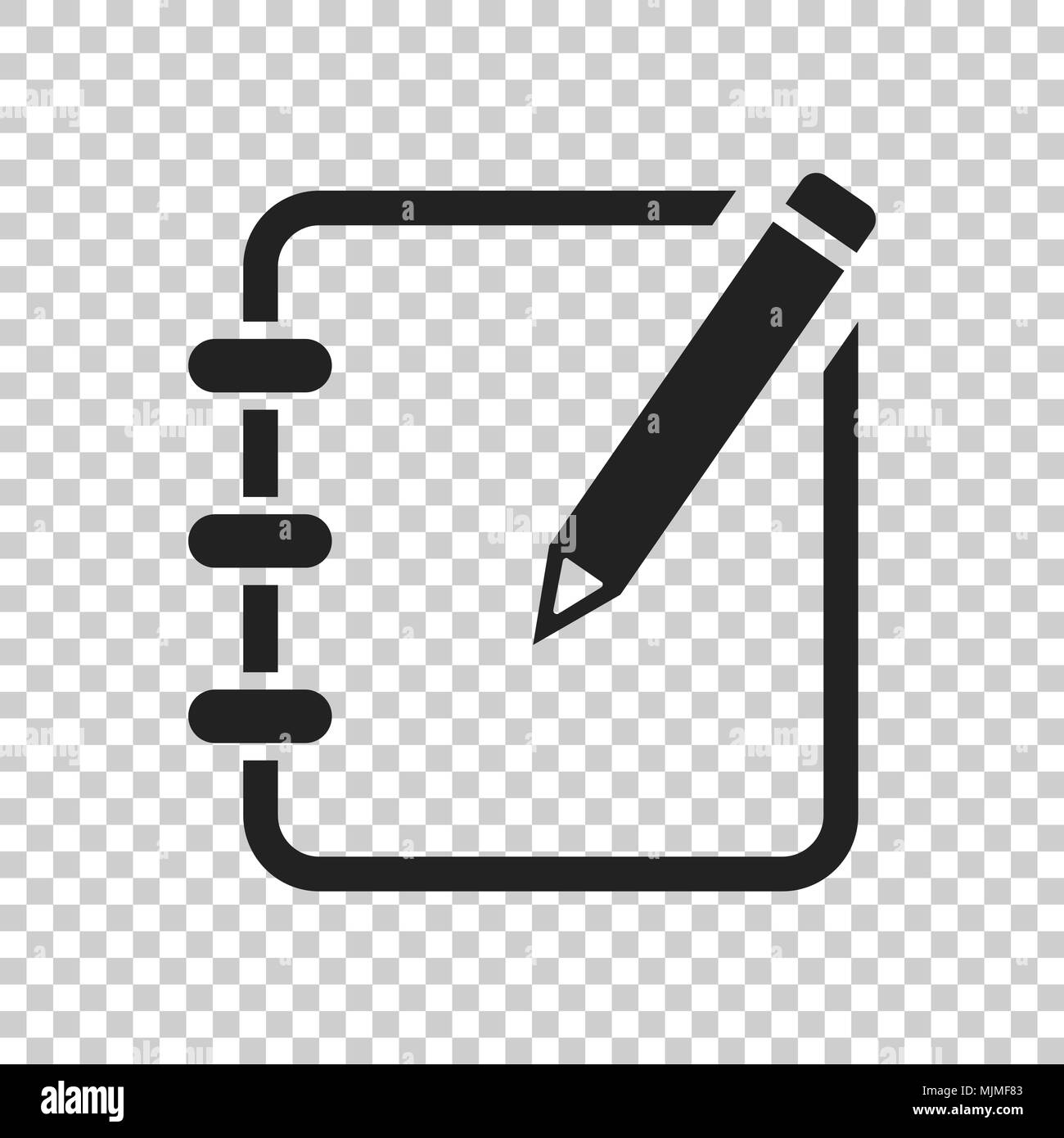 Notepad Edit Document With Pencil Icon Vector Illustration On Isolated Transparent Background Business Concept Note Edit Pictogram Stock Vector Image Art Alamy