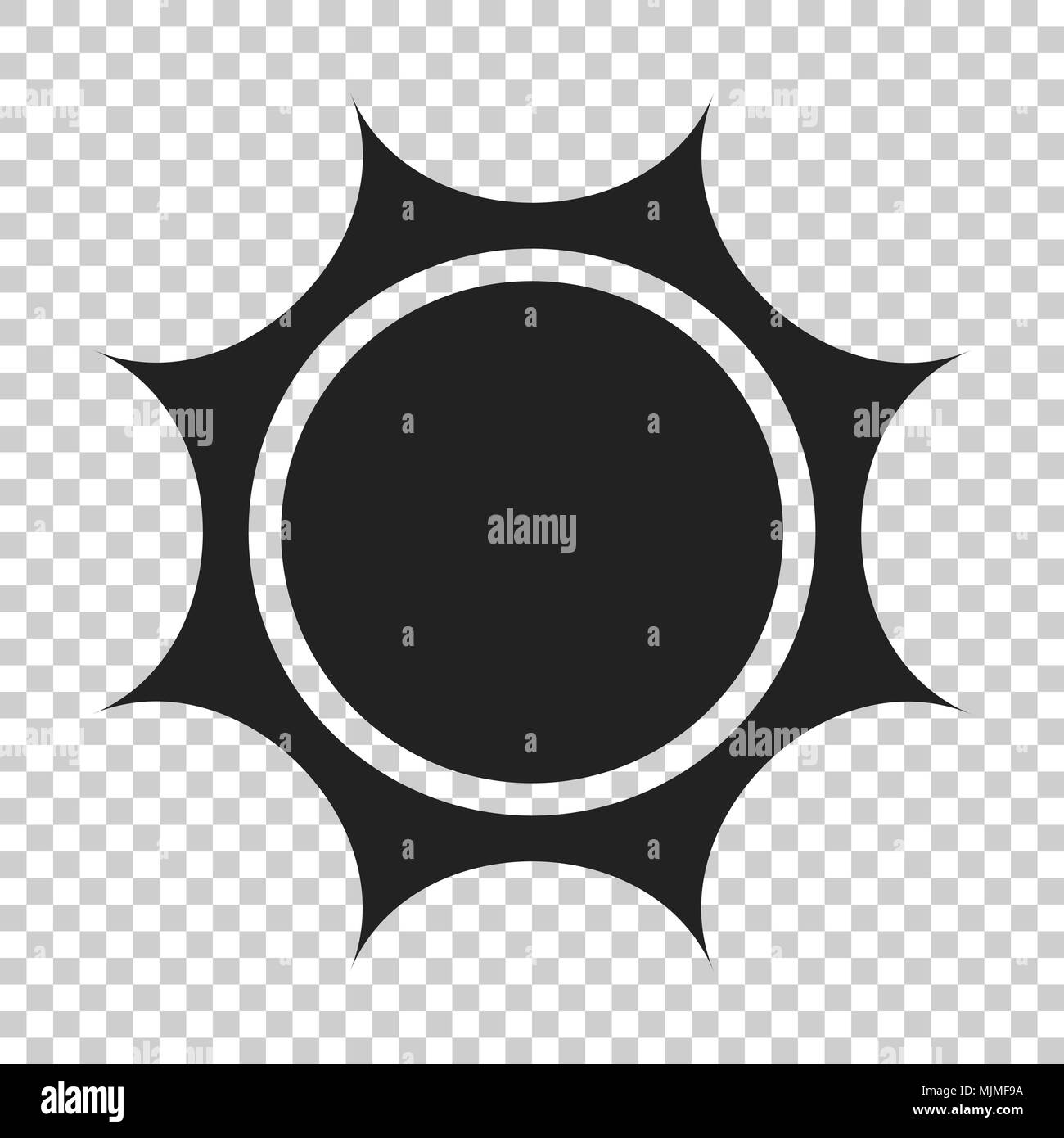 Sun vector icon  Summer sunshine illustration on isolated