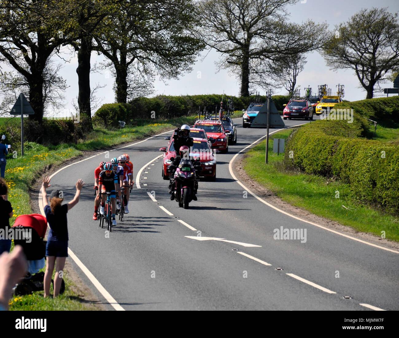 Break away Stage 3 Tour de Yorkshire 2018 - Stock Image