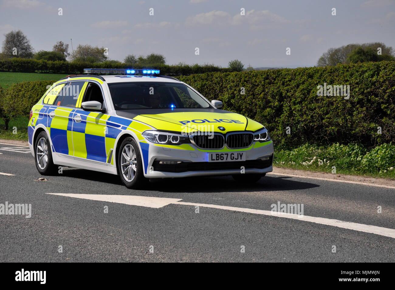 Police Car UK - Stock Image