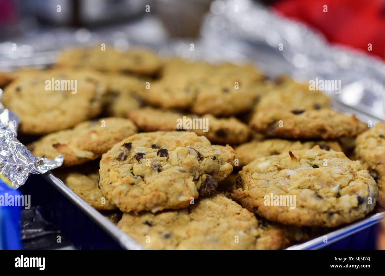 Homemade cookies sit on a table during the annual holiday cookie drive hosted by the Team ...