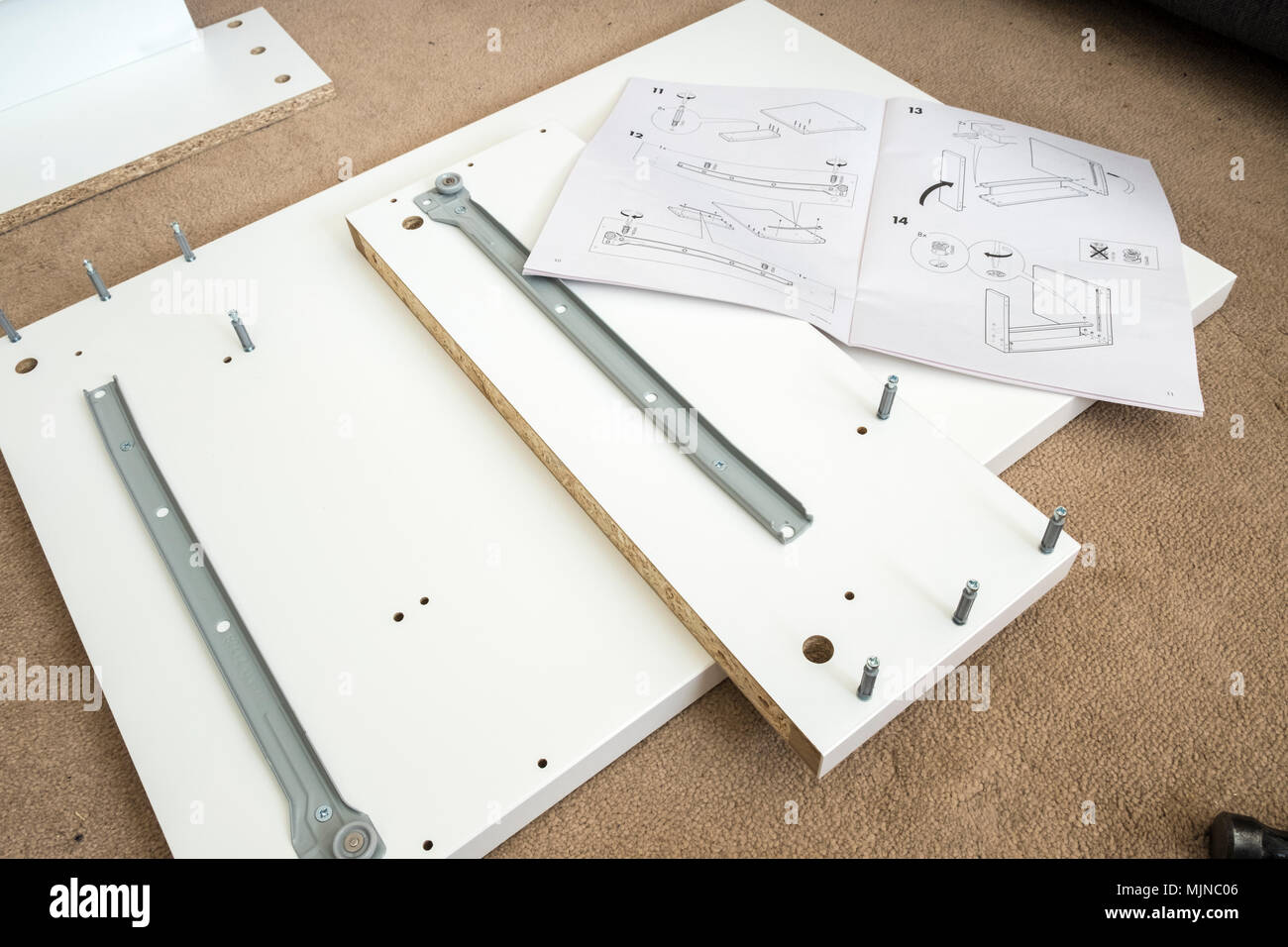 Ikea self assembly furniture and instructions - Stock Image