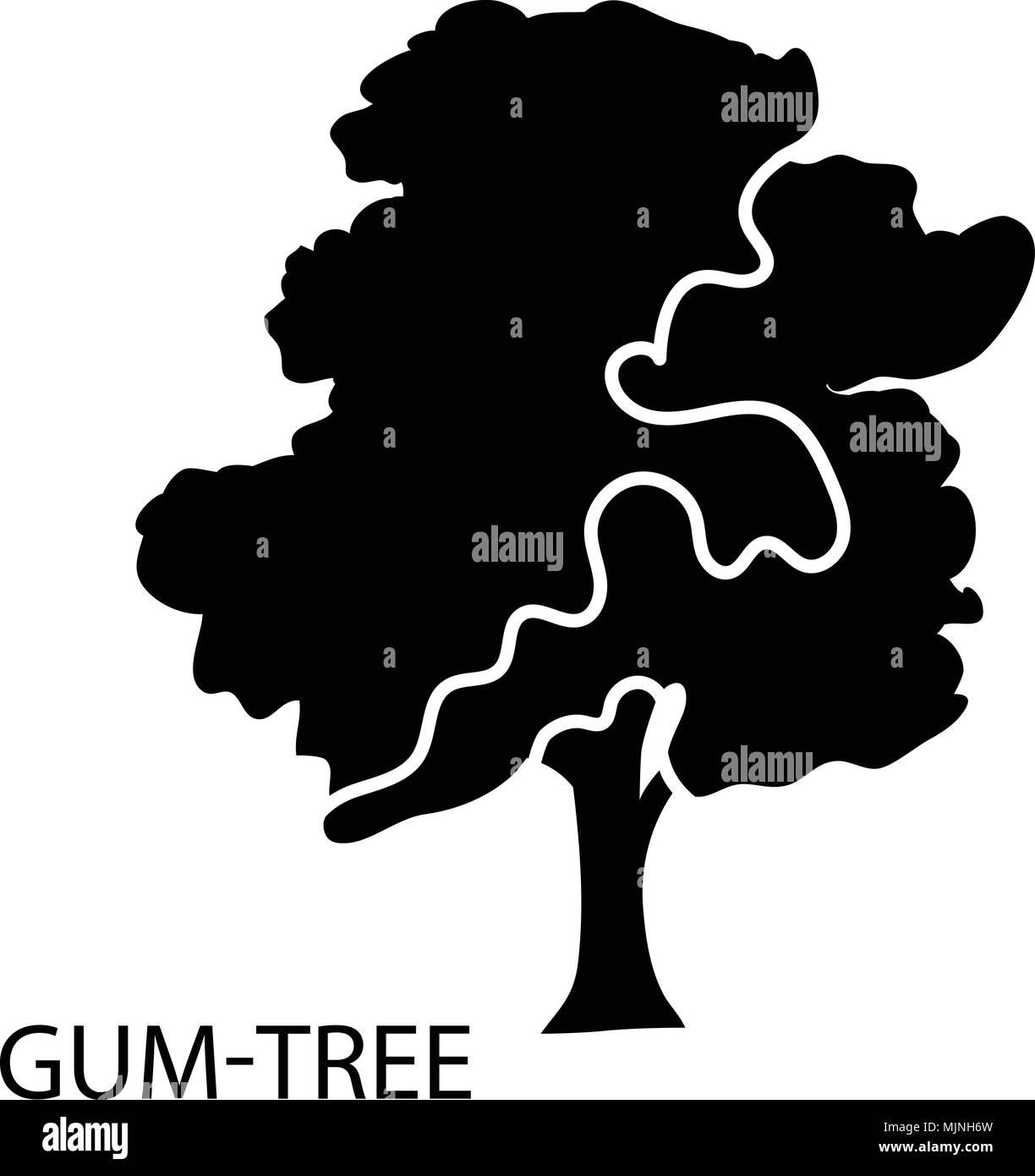 Gum tree icon, simple style - Stock Image